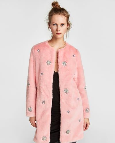 BEJEWELLED FAUX FUR COAT-View all-OUTERWEAR-WOMAN | ZARA United States
