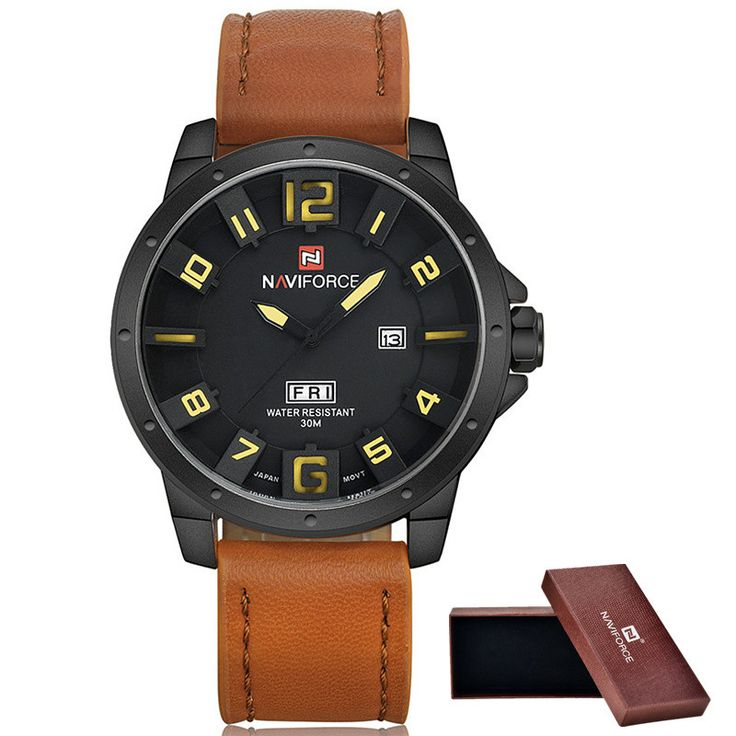 Men Watches NAVIFORCE Brand Military Reloj Quartz Analog 3D Face Leather Army fashion Clock Sports Watch Relogios Masculino