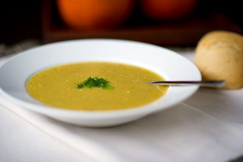 Roasted Acorn Squash and Corn Soup-3