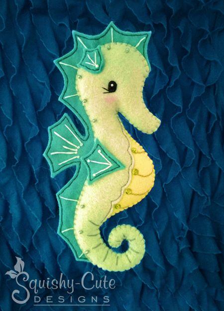 Felt Seahorse Stuffed Animal Plushie pattern on Craftsy.com
