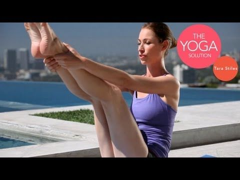 ▶ Hardcore Core Yoga Routine | The Yoga Solution With Tara Stiles - YouTube