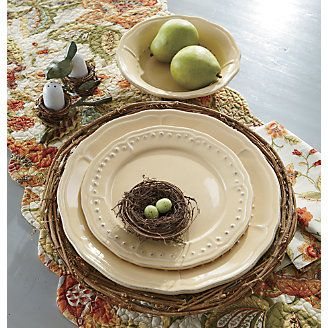 Dinner Plates Salad Plates u0026 Bowls Provence Set of 4 from Through the Country & 12 best Dinnerware images on Pinterest | Dish sets Dishes and ...
