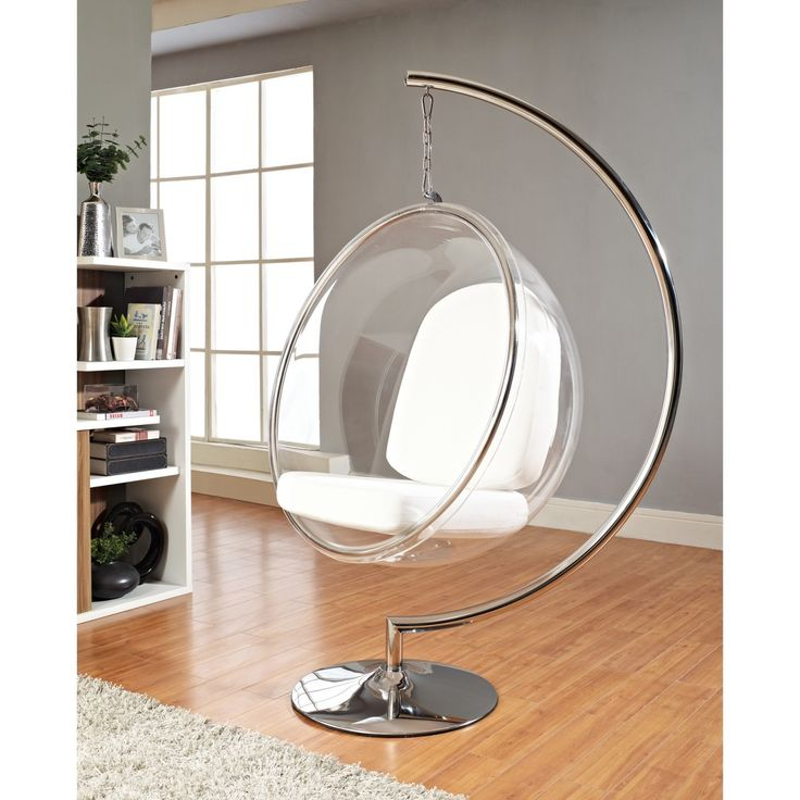 Bubble Chair With White Pillows
