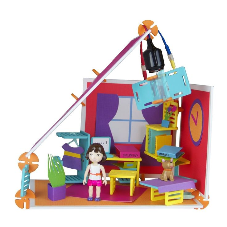 Roominate - Studio Building Set - M already loves constructing with HER Chateau Building Set...but poor Bettina is lonely! We would LOVE for Bettina to have Alice as a friend! - #EntropyWishList #PintoWin