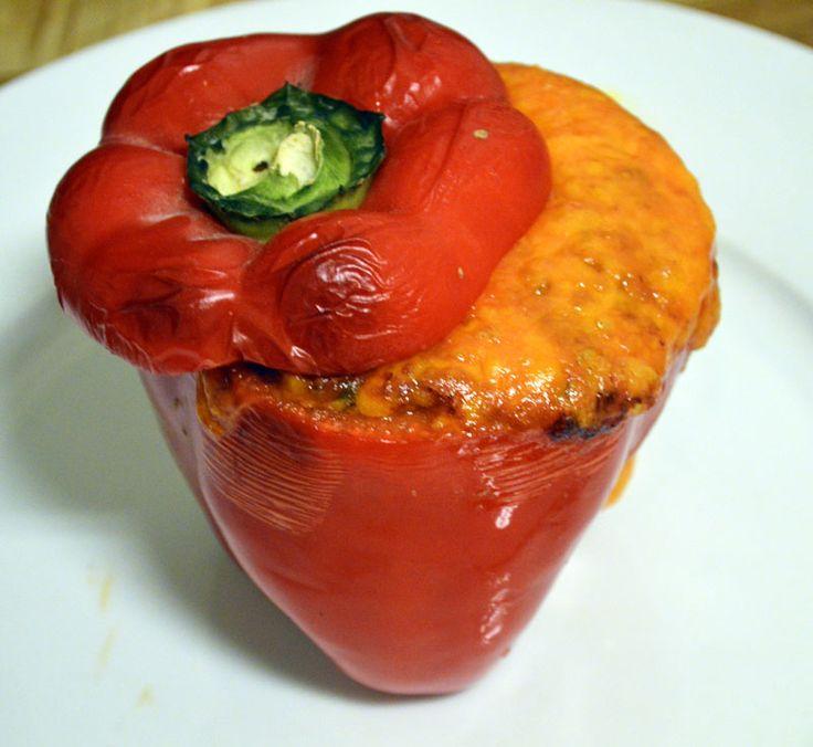 Chiligryte gratinert i paprika