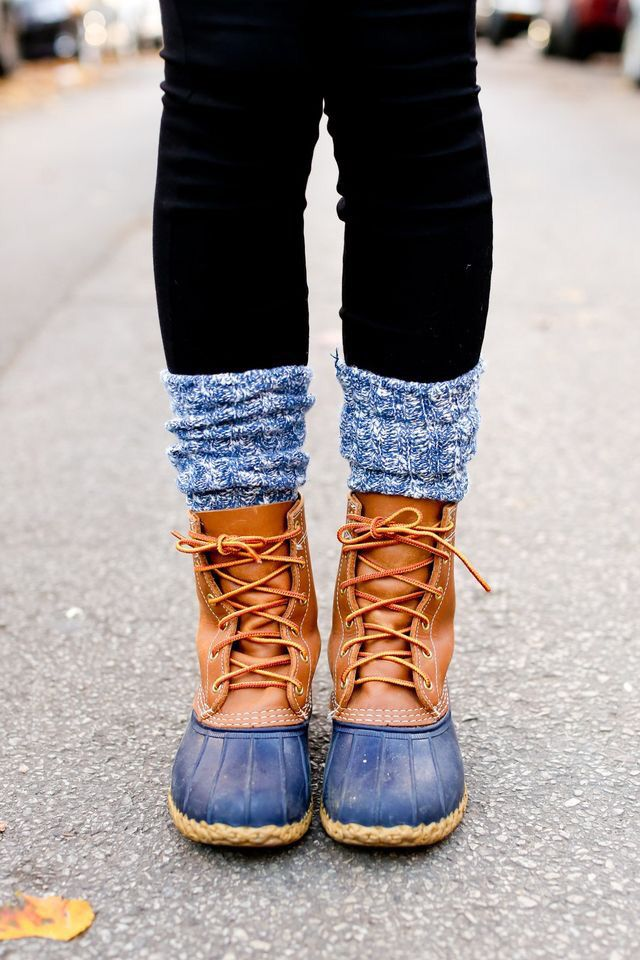 Bean Boots match perfectly with Cozy Tall Socks.