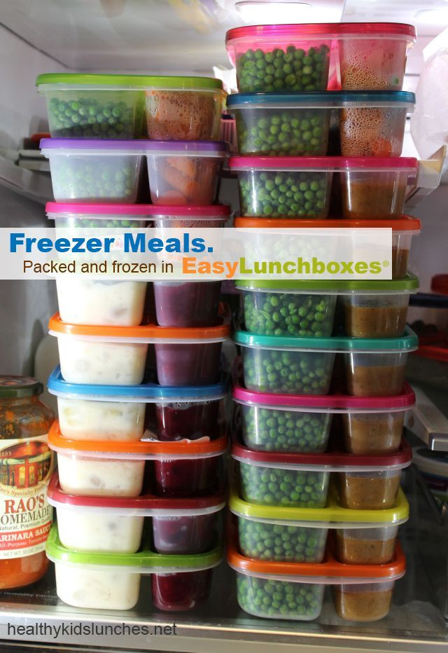 Freezer Meals. Packed in EasyLunchboxes. Now that's a lot of microwaveable dinners!