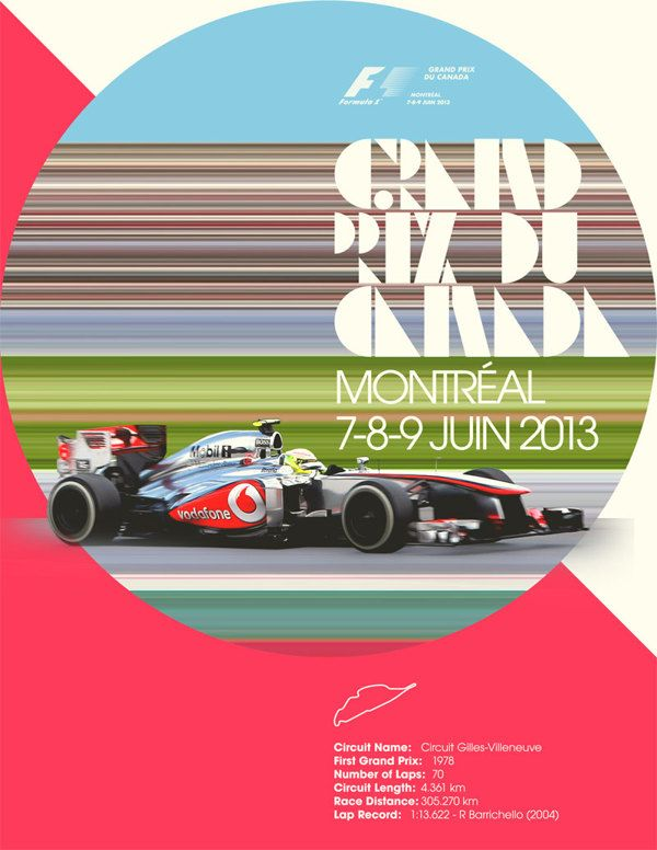 Checo Perez at Grand Prix du Canada by Paco Aguayo, via Behance