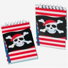 Pirate notebooks - pack of 12
