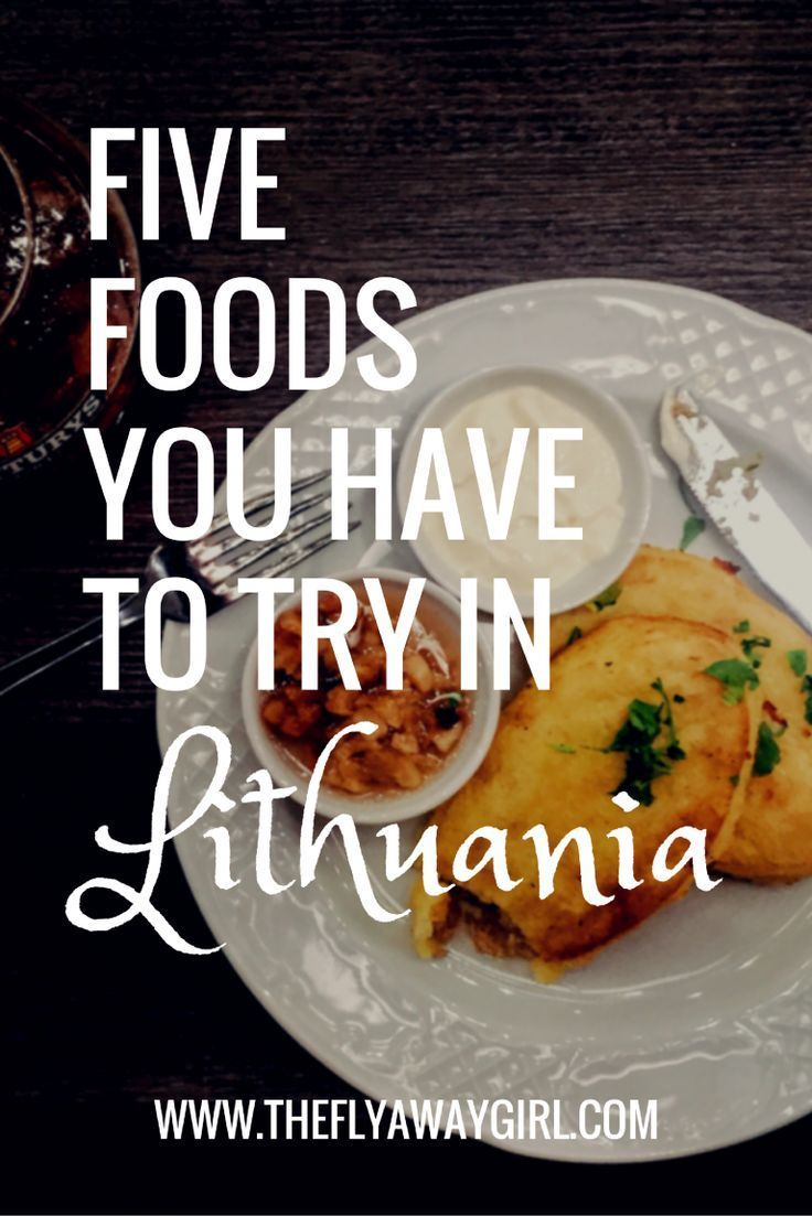 Are you traveling to Lithuania? Here are five foods you HAVE to try when in Lithuania! via /theflyawaygirl/ #travel #foodie
