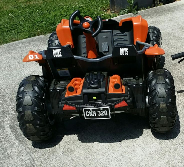 General Lee Power Wheel With License Plate