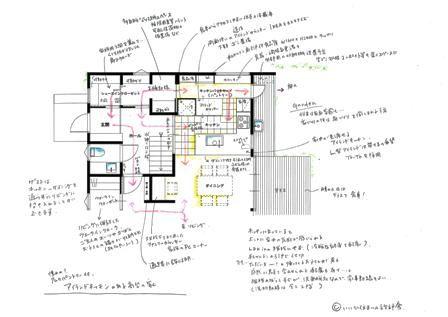 憧れのアイランドキッチンを成功させる裏動線の間取り@稲毛の家 | いいひブログ - いいひ住まいの設計舎