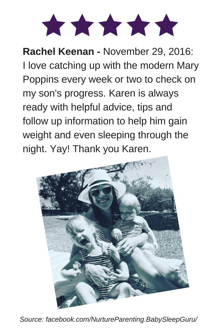 """Rachel Keenan, """"I love catching up with the modern Mary Poppins every week or two to check on my son's progress. Karen is always ready with helpful advice, tips and follow up information to help him gain weight and even sleeping through the night. Yay! Thank you Karen."""" Thanks for the review Rachel. I'm available every Wed 10am-1pm for free advice & baby weighing. Location: Basger's Pharmacy, 1 Mitchell St, North Bondi (cnr of Murriverie Rd). https://www.facebook.com/rachel..."""