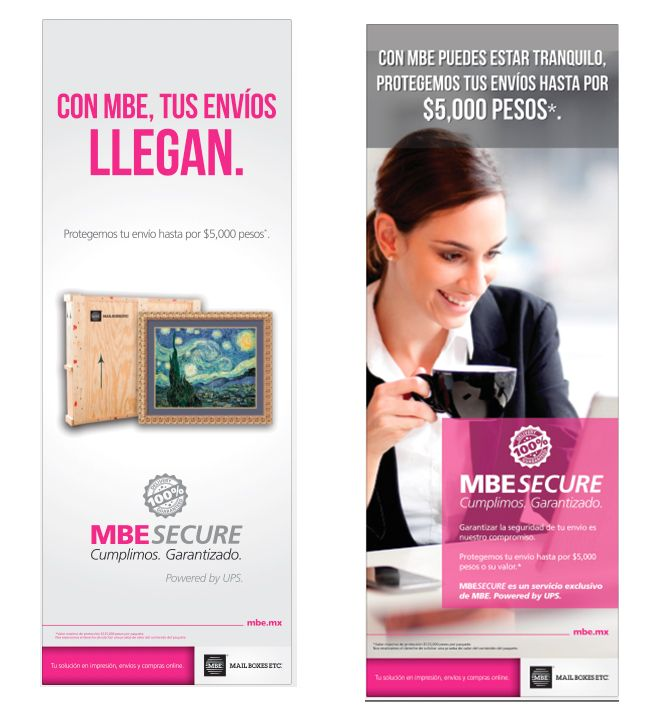 Banners publicitarios Medidas: 0.60 x 1.60 mts Compañía: MBE Secure  #EliizDesign