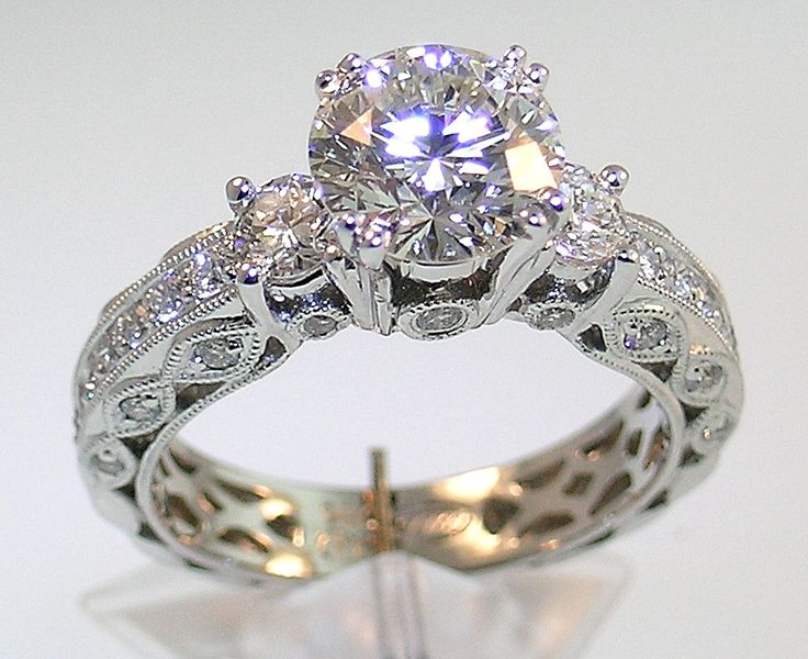 119 best Engagement rings images on Pinterest Rings Wedding bands
