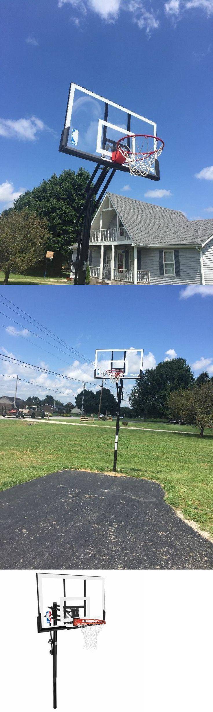 Backboard Systems 21196: Spalding 54 Heavy Duty Acrylic In Ground Basketball Goal Adjustable Breakaway -> BUY IT NOW ONLY: $276.87 on eBay!