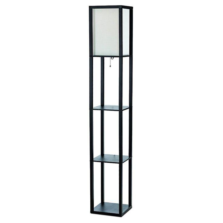 Simple Designs LF1014 Floor Lamp With Shelf | From Hayneedle.com