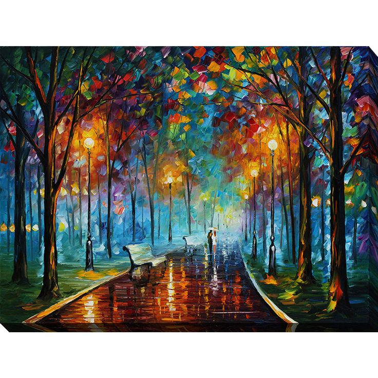 leonid afremov u0027misty moodu0027 giclee print canvas wall art by picture perfect