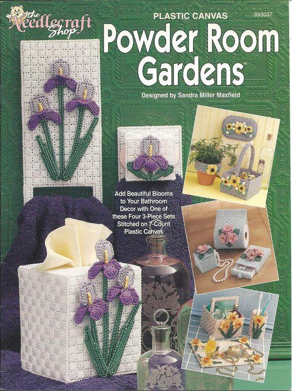 Grape Arbor ~ Vase Clock Basket Tissue Cover /& More plastic canvas patterns NEW