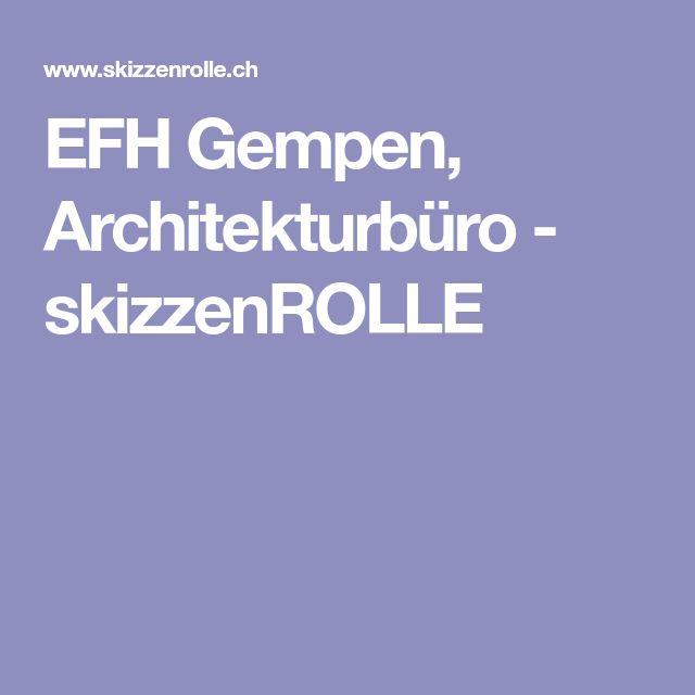 EFH Gempen, Architekturbüro - skizzenROLLE
