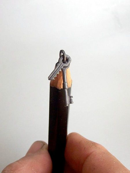 Unique pencil sculptures created by talented Hungarian artist Cerkahegyzo.