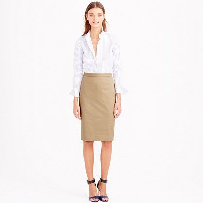 J.Crew+-+Petite+pencil+skirt+in+stretch+cotton