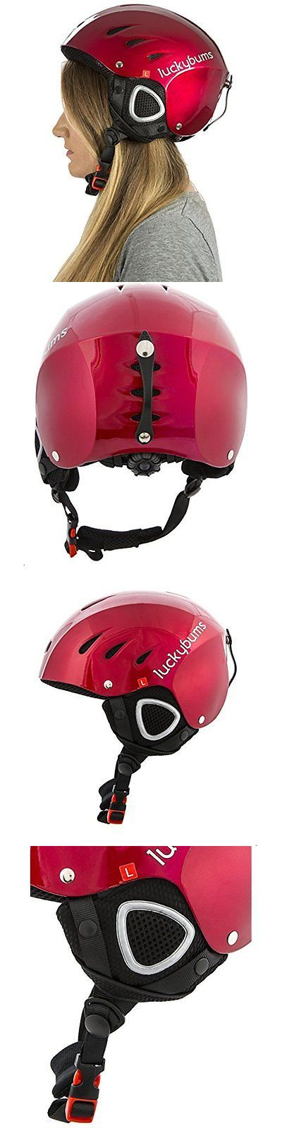 Other Winter Sports 1303: Large Helmets Lucky Bums Snow Sport Helmet, Red, -> BUY IT NOW ONLY: $39.5 on eBay!