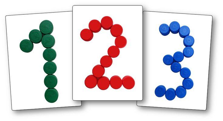 Modèles chiffres avec des bouchons