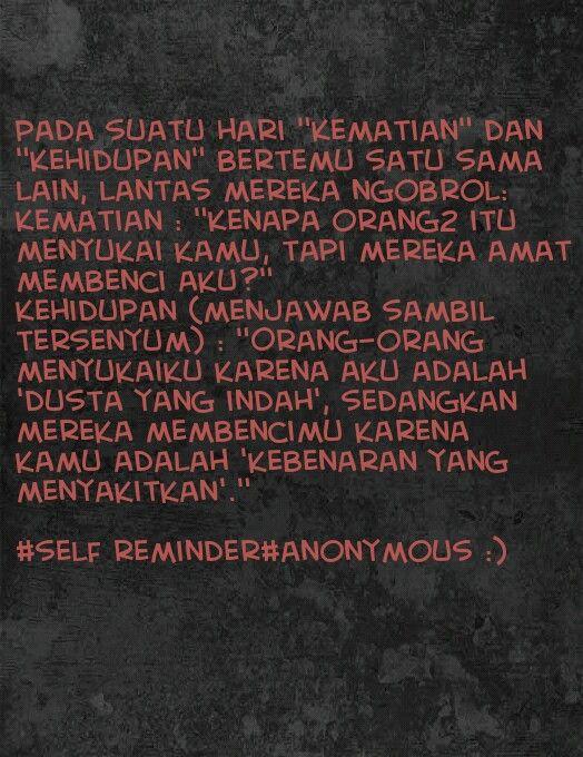 Self reminder :)