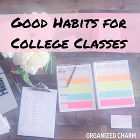 Organized Charm: Good Habits for College Classes