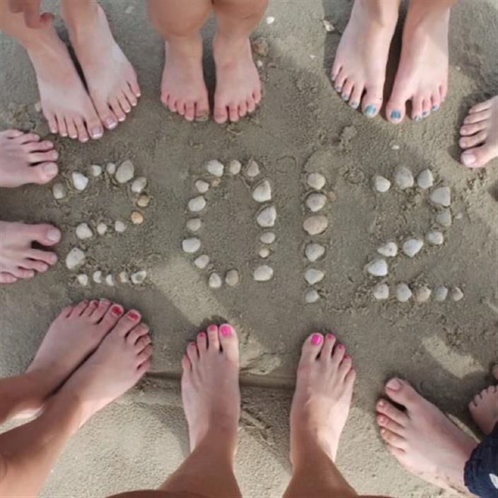 Sandwriting Draw your family name and the year in the sand  then decorate the sand drawing with shells and other beachside treasures  Have f