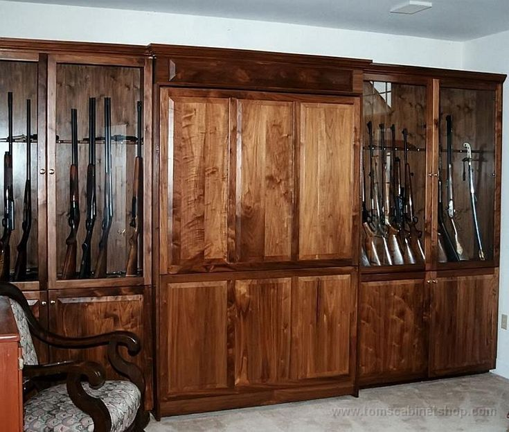 Guns Custom 12 Gun Cabinet Plans