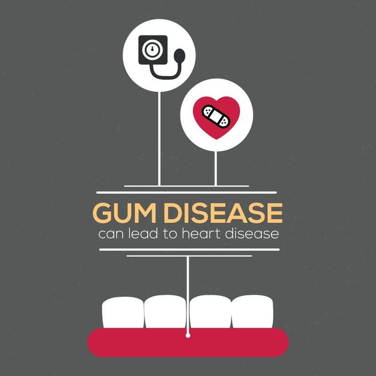 ¿Sabías que... la enfermedad periodontal (de las encías) puede llevar a enfermedades del corazón?  Si tienes las encías inflamadas o muy rojas puedes padecer de enfermedad periodontal. No te preocupes, ¡nosotros nos encargamos!