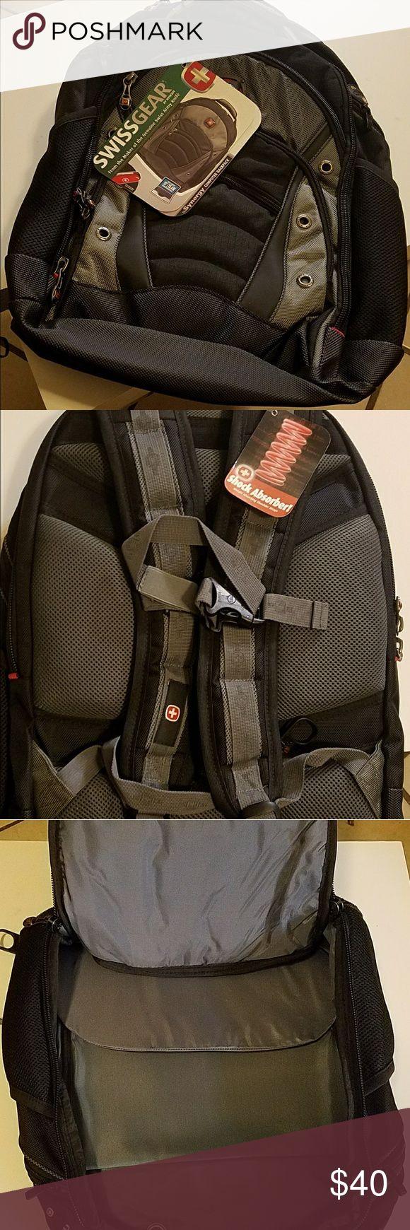 "Swissgear backpack Black/grey Swissgear backpack/computer bag. Will hold most lap tops 15""/15.4W widescreens. Very sturdy!! SwissGear Bags Backpacks"