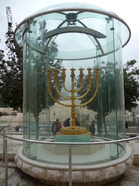 What a special thing to see in the Old City of Jerusalem!    http://www.israelvideonetwork.com/the-golden-menorah-of-the-third-temple-in-jerusalem