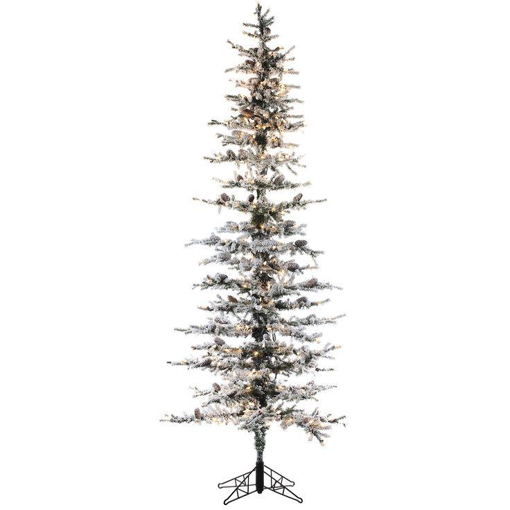 8' Snow Lodge Pine Slim Artificial Christmas Tree