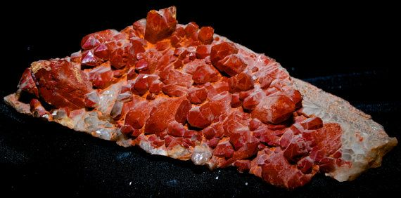 Large Red Quartz Cluster From Orange River by Heavenlyearthgifts
