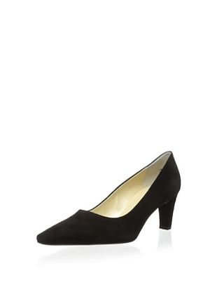 53% OFF Peter Kaiser Women's Classic Pointed-Toe Pump (Black Suede)