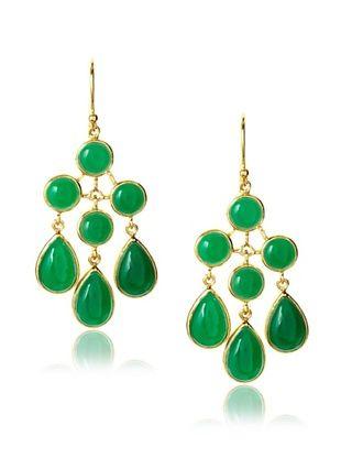 Eddera Jewelry Georgina Green Onyx Earrings