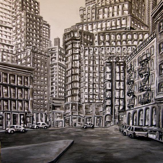 New York City Acrylic Painting