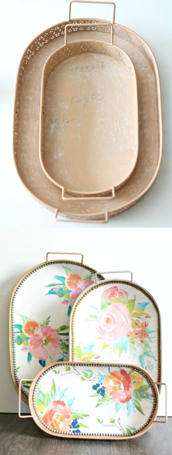 10 Thrift Store Home Decor Trend Hacks Using Mod Podge! Check out these fun decoupaged before/after DIYs!