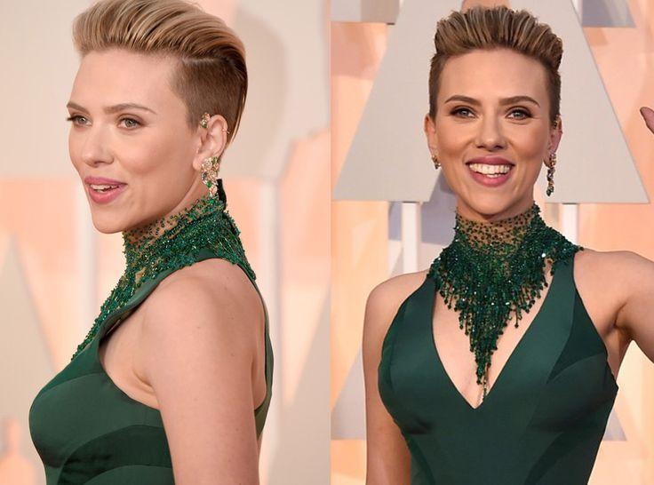 ¿Estuvisteis atentos a los #Oscars2015? Nuestra mención especial a Scarlett Johansson por ser la más atrevida, y más comentada, por su #peinado con pelo corto con tupé en la parte frontal, rapado en los laterales.