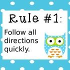 These whole brain rules posters feature cute owls that would look great in any owl, bright, or polka dot themed classroom. I received a request fo...