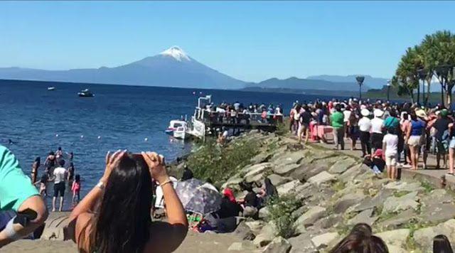 Centenas de chilenos conseguem avistar OVNI durante apresentação de caças da força aérea! ~ Sempre Questione