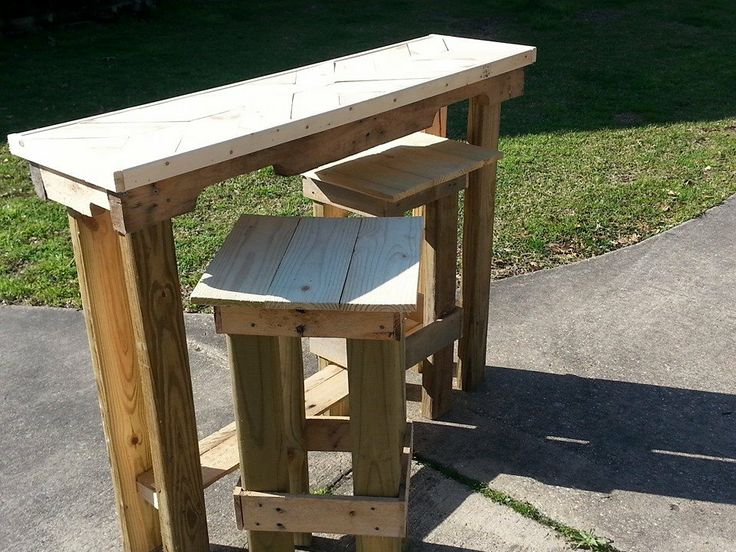 Outdoor Bar Stools And Table Set - WoodWorking Projects & Plans