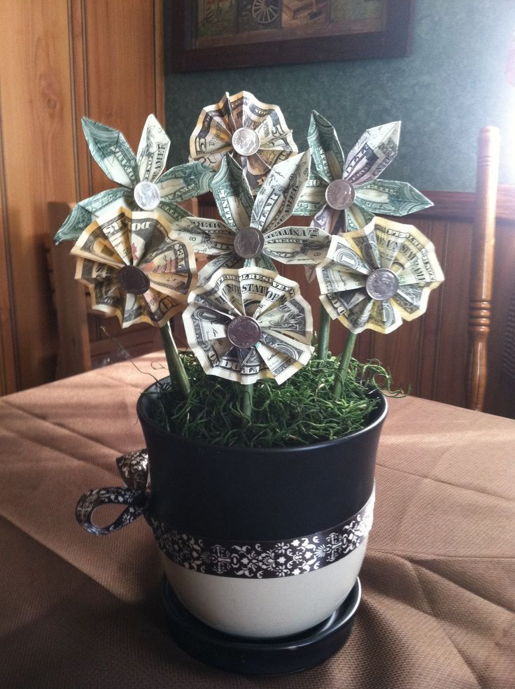 Flowers Made Of Money Origami Money Flower Gift #wedding