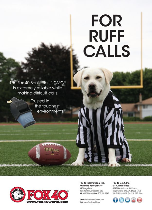 Referee Magazine Ad Published in the October 2014 Issue