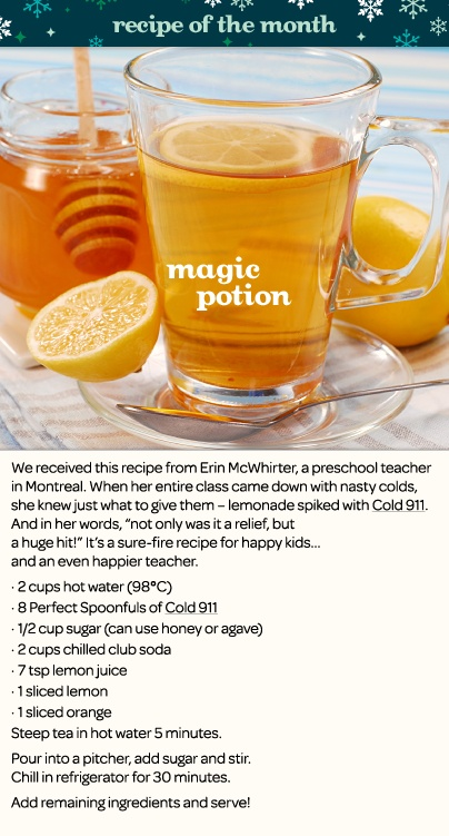 Tea Recipe: Magic Potion - A fan submitted cold fighting concoction - DAVIDsTEA
