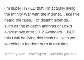 Yep. It's gonna be great. We'll all cry together.