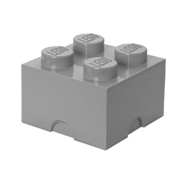 Lego Aufbewahrungsbox mit 4 Noppen - Grau